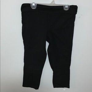 Danskin black capris leggings